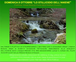 Domenica 9 ottobre, Lo stillicidio dell'Aniene
