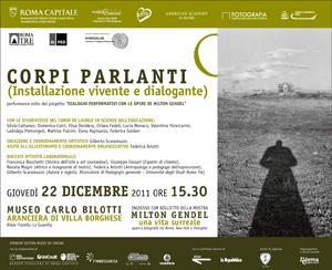 Corpi Parlanti, installazione vivente e dialogante al Museo Carlo Bilotti a Villa Borghese a Roma