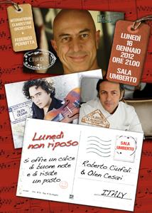 Lunedi'  non riposo, il recital torna a grande richiesta al Sala Umberto di Roma