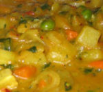 Zuppa di verdure al curry