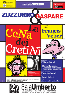 Zuzzurro e Gaspare in La cena dei cretini al Sala Umberto di Roma