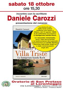 Milano 1944: Villa Triste – La famigerata banda Koch, il libro di Daniele Carozzi