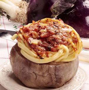 Melanzane ripiene di spaghetti al profumo di Sicilia