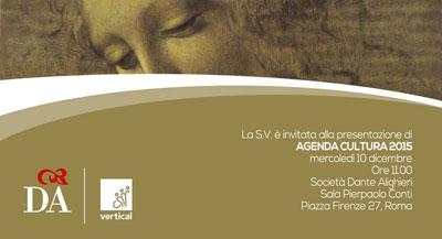 Agenda Cultura 2015, la presentazione alla Dante Alighieri di Roma