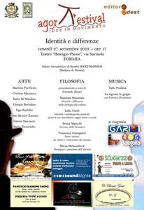 Appuntamento al Teatro Remigio Paone arte, musica e filosofia per parlare di Identita' e differenze con l'Agora Festival