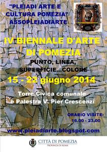 Biennale di Arte di Pomezia, al via la IV edizione e a vetrina creativa aperta alle arti visive. 34 Artisti da ogni dove