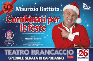 Combinati per le feste lo spettacolo scritto e diretto da Maurizio Battista in scena al Brancaccio di Roma