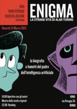 Tuono Pettinato presenta il suo graphic novel, Enigma. La strana vita di Alan Turing al Kino di Roma