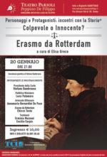 Erasmo da Rotterdam Colpevole o innocente? Lo spettacolo in scena al Teatro Parioli di Roma