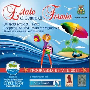 Estate al centro di Formia. Da Giugno a Settembre relax, shopping, musica, teatro e artigianato