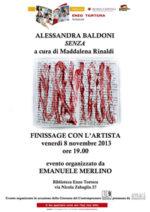 Senza, la mostra in corso alla Biblioteca Tortora di Roma
