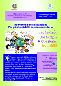 Giornata Mondiale dell'Infanzia celebrata al Teatro Remigio Paone