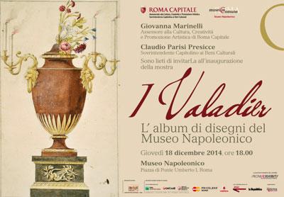 I Valadier. L'Album di disegni del Museo Napoleonico in mostra al Museo Napoleonico di Roma