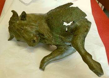Il Toro cozzante del Museo Archeologico Nazionale della Sibaritide al Museo Egizio di Torino