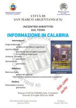 Informazione in Calabria, il tema dell'incontro a San Marco Argentario.