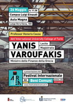 Yanis Varoufakis, Ministro delle Finanze della Grecia sarà nominato Professor Honoris Causa dello IUC