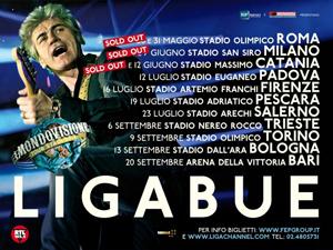 Ligabue, al via dallo Stadio Olimpico di Roma Mondovisione Tour – Stadi 2014