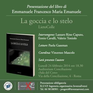 La goccia e lo stelo, il libro di Emmanuele Francesco Maria Emanuele