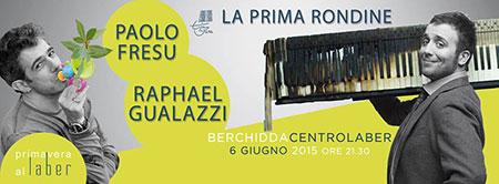 """Gran finale sabato a Berchidda (Olbia-Tempio) per """"Primavera al Laber"""" con """"La prima rondine"""" di Raphael Gualazzi e Paolo Fresu"""