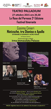 Cosimo Cinieri in Nietzsche, tra Dioniso e Apollo
