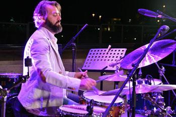 Lucrezio de Seta Movin' On Quartet in concerto all'Elegance Café di via Vittorio Veneto di Roma