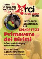 Primavera dei diritti, appuntamento in Piazza dei Caduti a Viterbo