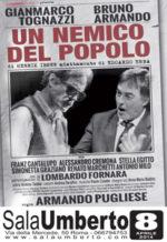 Un nemico del popolo, lo spettacolo con GianMarco Tognazzi e Bruno Armando  in scena al Teatro Sala Umberto di Roma