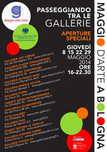 Passeggiando tra le gallerie, le tredici Gallerie partecipano all'iniziativa Maggio d'Arte a Bologna
