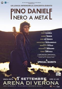 Ultimi biglietti per Nero a metà di Pino Daniele, l'attesissimo concerto-evento sul palco dell'Arena di Verona