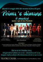 Prima è dimane, il musical in scena al Teatro L'Aura di Roma