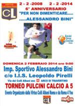 Sesto anniversario Per non dimenticare Alessandro Bini. Torneo pulcini calcio A 5