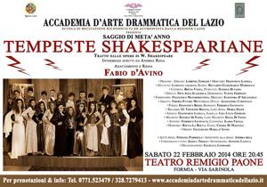 Tempeste shakespeariane al Teatro Remigio Paone