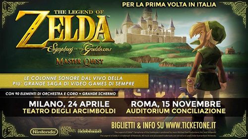 Zelda, le musiche della saga di videogames della Nintendo arrivano in Italia. Il concerto al Teatro degli Arcimboldi di Milano