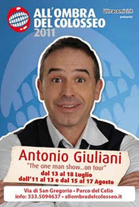 Antonio Giuliani con One Man Show…On Tour al parco del Celio a Roma