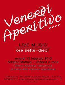 Adriano Mottola, l'attore musicista ripercorre la storia della canzone napoletana a Interazioni Art Gallery