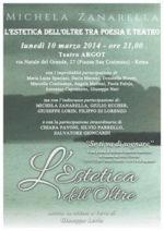 L'Estetica dell'Oltre tra poesia e teatro al Teatro Argot di Roma
