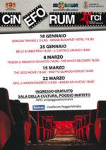 A Poggio Mirteto torna il Cineforum dell'ARCI. La stagione culturale di qualità dell'Officina Culturale della Bassa Sabina promossa dalla Regione Lazio continua!