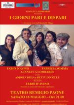 I giorni pari e dispari al Teatro Remigio Paone di Formia