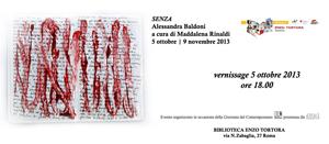 Senza, la mostra di Alessandra Baldoni alla biblioteca Enzo Tortora di Roma
