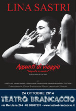 Appunti di viaggio, spettacolo in prosa e musica con Lina Sastri sotto ai riflettori del Teatro Brancaccio di Roma