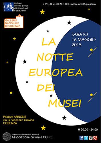 Il Polo Museale della Calabria partecipa a La notte europea dei musei
