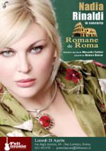 Nadia Rinaldi in concerto con uno spettacolo Romane de Roma