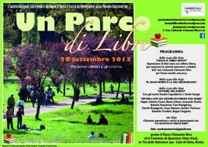 Un parco di libri, al via la prima edizione della mini festa del libro al Parco Clemente Riva di Ostia