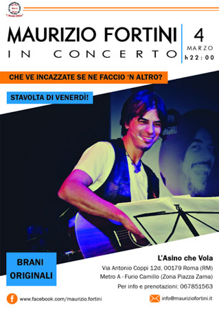 Maurizio Fortini in concerto a L'Asino che Vola di Roma