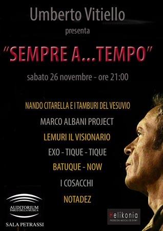 Festa all'Auditorium per i sessant'anni di Umberto Vitiello