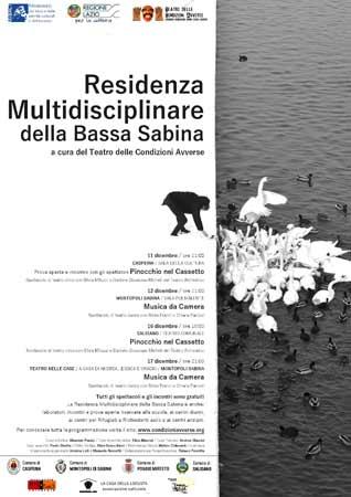La Residenza Multidisciplinare della Bassa Sabina porta la danza e il teatro nelle case