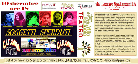 Soggetti Sperduti, lo spettacolo al Teatro di Villa Torlonia di Roma