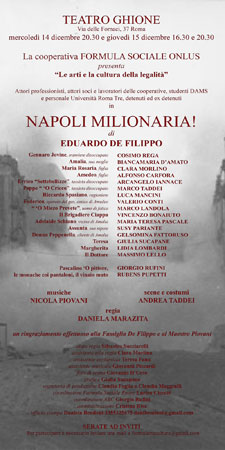Le arti e la cultura della legalità al Teatro Ghione di Roma