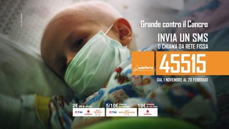 La campagna sociale Sms Grande contro il cancro