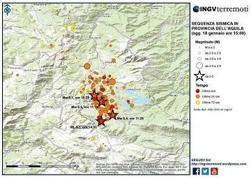 Torma l'incubo del terremoto nel Centro Italia avvolto sotto metri di neve